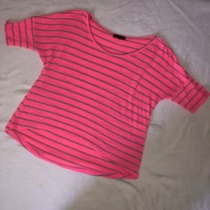 Pink and gray high low cut Tee